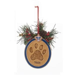 "3"" Boy Scout Tiger Paw Print Decorative Christmas Ornament"