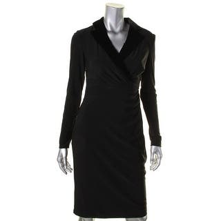 Lauren Ralph Lauren Womens Wear to Work Dress Matte Jersey Velvet Trim - 4|https://ak1.ostkcdn.com/images/products/is/images/direct/2210cb758cc4be0a399af225939482e4c1460e39/Lauren-Ralph-Lauren-Womens-Wear-to-Work-Dress-Matte-Jersey-Velvet-Trim.jpg?impolicy=medium