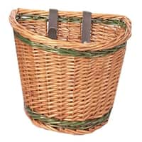 Evo E-Cargo Wicker Classic Bicycle Handlebar Basket - HT-246