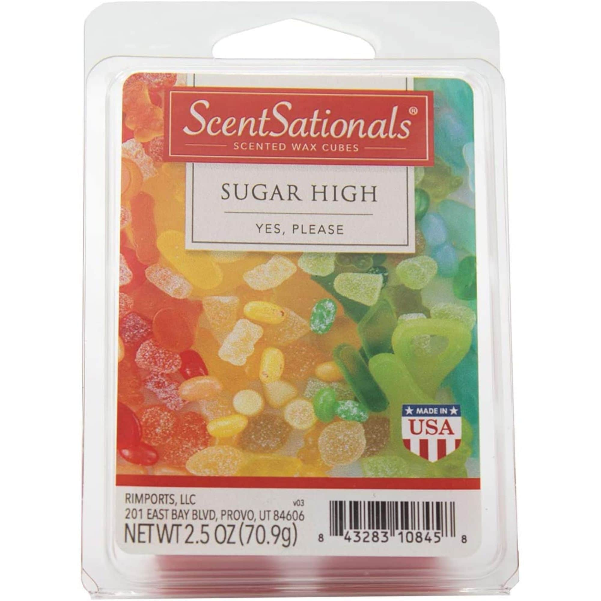 Scentsationals Sugar High 2 5 Oz Fragrant Wax Melts 6 Scented Wax Cubes 4 Pack On Sale Overstock 31141471