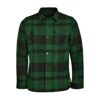 Barbour Dept. (B) Runner Shirt Jacket Large L Green & Black