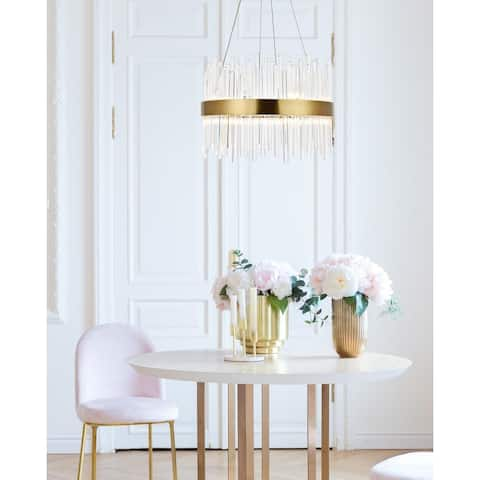 Gold Chandelier Clear Crystal