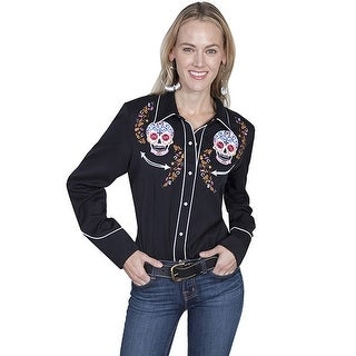 Scully Western Shirt Womens Long Sleeve Embroidered Snap PL-857
