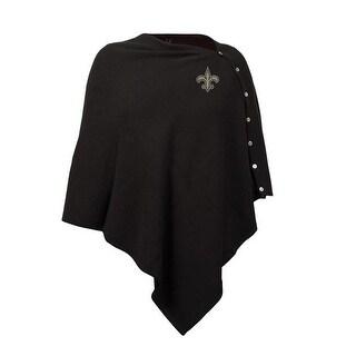 Little Earth NFL Black Out Button Poncho - New Orleans Saints
