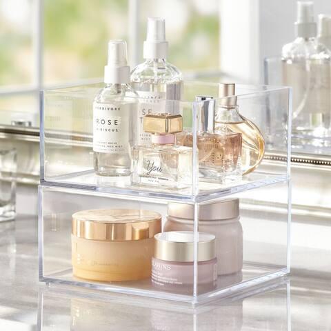 mDesign Storage Bin for Bathroom, Vanity - Clear
