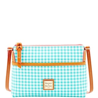 Dooney & Bourke Small Gingham Ginger Crossbody (Introduced by Dooney & Bourke at $128 in Jan 2016) - Sea Foam
