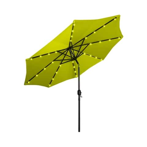 Lucent 9' Lighted Patio Umbrella with Solar Power LED Lights
