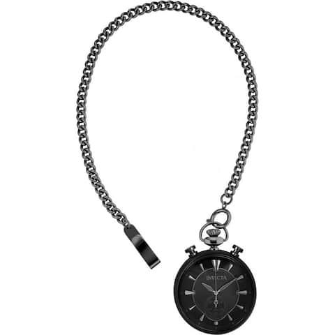 Invicta Men's 34456 'Vintage' Black Stainless Steel Watch