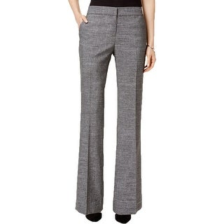 Nine West Womens Dress Pants Tweed Pleated