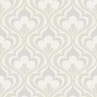 Brewster 2535-20600 Lola Grey Ogee Bargello Wallpaper