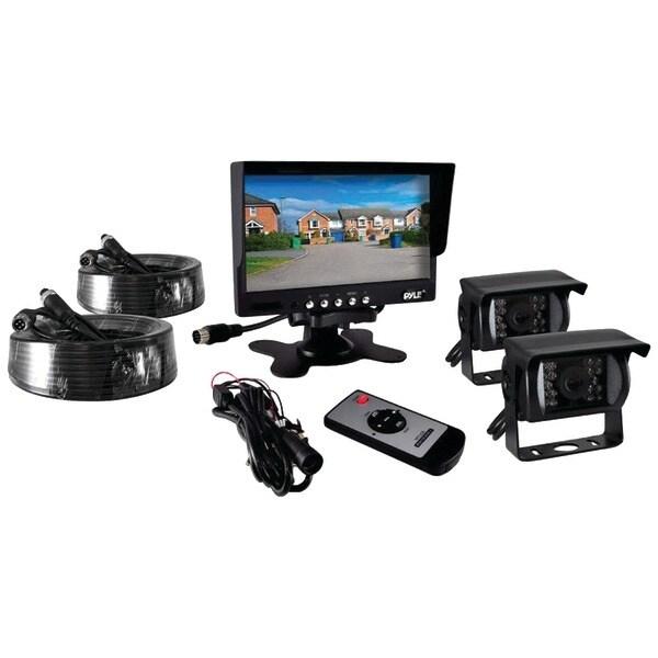 "Pyle Pro Plcmtr72 7"" Commercial-Grade Weatherproof Backup Cameras & Monitor System"