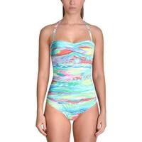 Lauren Ralph Lauren Womens Printed Twist Front One-Piece Swimsuit
