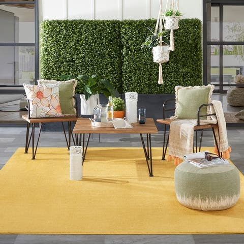 Nourison Essentials Striated Indoor/ Outdoor Contemporary Area Rug