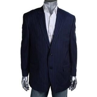 Sean John Mens Striped Notch Collar Two-Button Suit Jacket