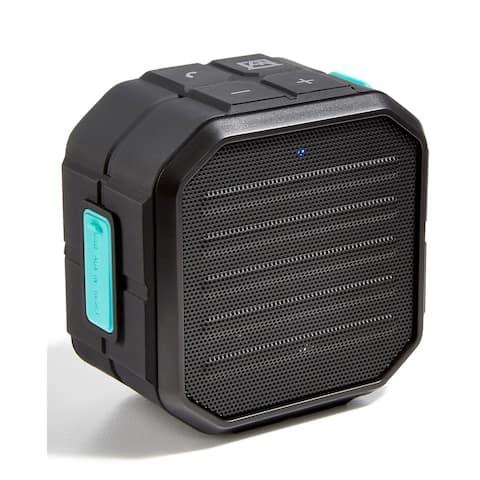 TKO Avalanche Unisex Water-Resistant Portable Mini Speaker System, Black, OS