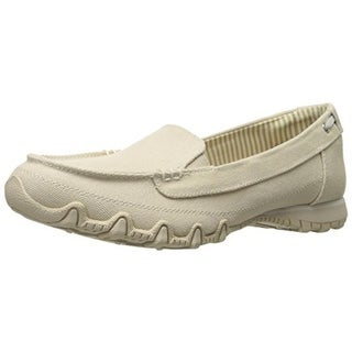 Skechers Womens Motoring Canvas Memory Foam Moccasins - 9.5 medium (b,m)
