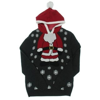 Ugly Christmas Sweater Mens Pullover Sweater Knit Ribbed Trim