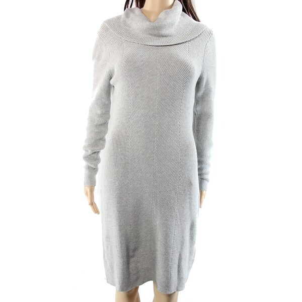 Lauren by Ralph Lauren Gray Women's Size Large L Sweater Dress