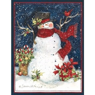 Snowman Scarf 5.375 In X 6.875 In Christmas Cards, Christmas Cards by Lang Comp