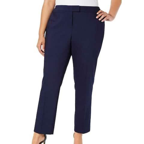 Anne Klein Womens Dress Pants Blue Size 20W Plus Straight Stretch