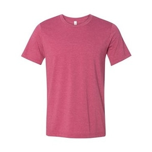Unisex Short Sleeve Jersey Tee - Heather Raspberry - M