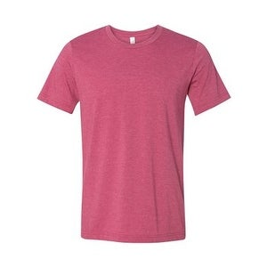 Unisex Short Sleeve Jersey Tee - Heather Raspberry - S
