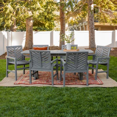 Hydaburg 7-piece Patio Extension Dining Set by Havenside Home
