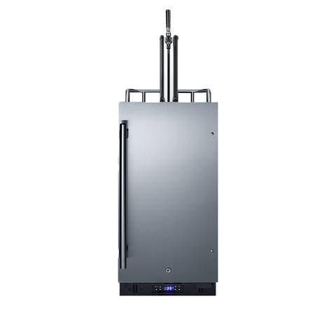 """Summit SBC15WK 15"""" Wide 2.9 Cu. Ft. Built-In or Free Standing Single - Stainless Steel"""
