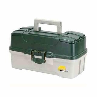 Plano 3-Tray Tackle Box Dk.Green Met./Off White