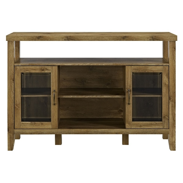 """Delacora WE-BDU52JOR 52"""" Wide Glass, Laminate and Wood Buffet Console with Two Doors"""