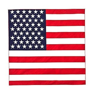 American Flag Bandana 100% Cotton - 21 inches - Bulk Wholesale Packs