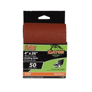 "Gator 3192 Resin Sanding Belt, 4"" x 36"", 50 Grit"