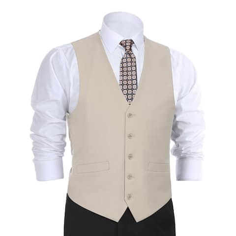 Men's Regular Fit Suit Separate Vest Dress Vest Waistcoat For Men