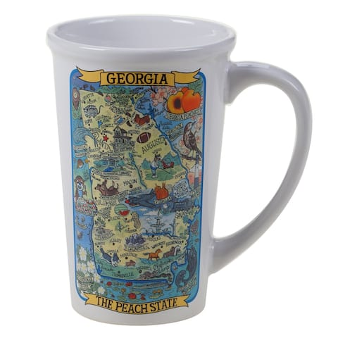 Certified International Georgia Souvenir 22 oz. Jumbo Mugs (Set of 6)