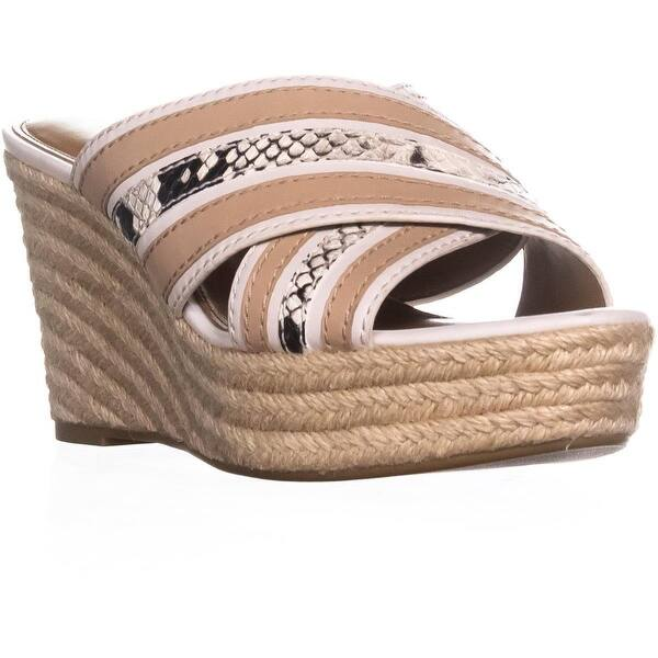 dd71a093a9c Shop Coach Florentine Slip-on Wedge Sandals, Chalk/Chalk - 9 US / 39 ...