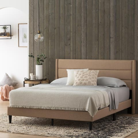 Brookside Sara Upholstered Bed with Horizontal Channels