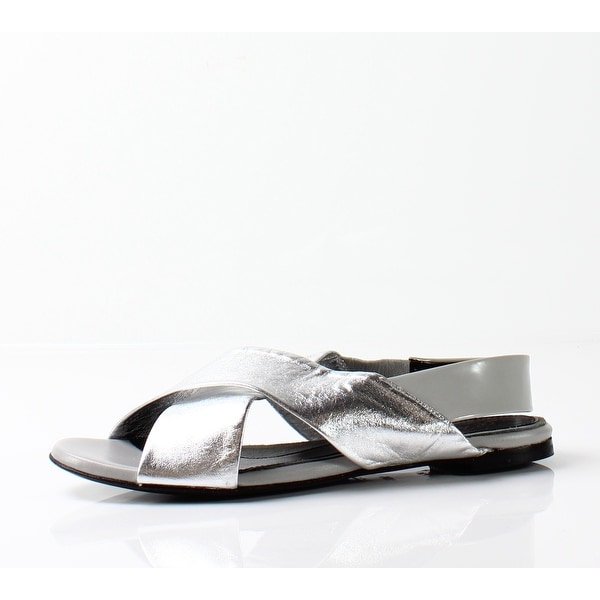 7e0ca48ed4f6 Shop Robert Clergerie NEW Silver Women s Shoes Size 6M Gavo Sandal ...