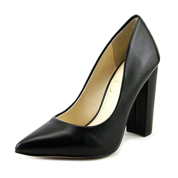 Jessica Simpson Tanysha Women Pointed Toe Leather Black Heels