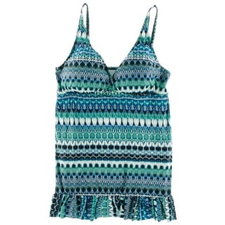 La Blanca Womens Plus Adjustable Straps Printed One-Piece Swimsuit - 18W