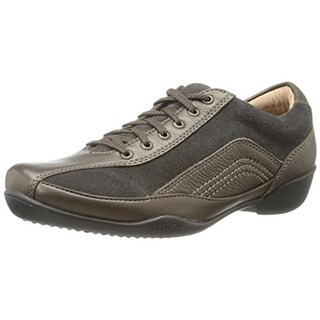 Taos Womens Steady Leather Suede Contrast Oxfords - 8 medium (b,m)