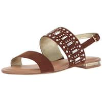 Carlos by Carlos Santana Womens Verity Fabric Open Toe Casual Slingback Sandals