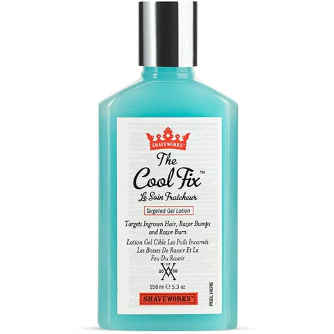 Shaveworks The Cool Fix Aftershave for Women: Pubic Hair Removal, Razor Bumps, Razor Burns, Ingrown Hair Treatment 5.3 oz