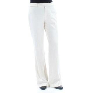 RALPH LAUREN Womens Ivory Wear To Work Pants Size: 8