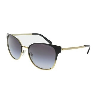 Link to Michael Kors MK1022 118111 Tia Black/Gold Oval Sunglasses - 54-17-140 Similar Items in Women's Sunglasses