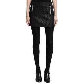 Aqua Womens Mini Skirt Shimmer Jacquard