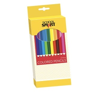 School Smart Colored Pencil, 7 in, Assorted Colors, Pack of 24