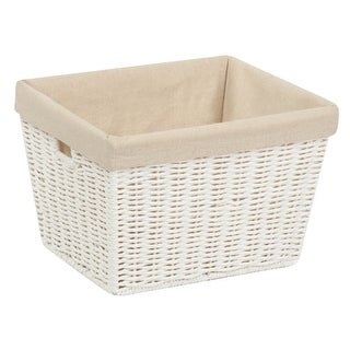 Honey Can Do STO-03560 Parchment Cord Basket, medium, White