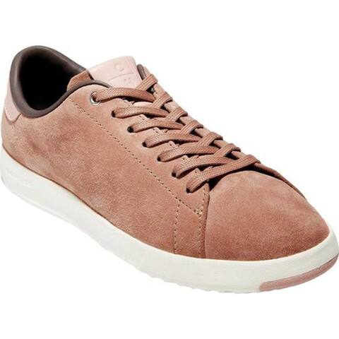 9ac64fc861c Cole Haan Women s GrandPro Tennis Sneaker Mocha Mousse Suede Misty Rose  Leather Ivory