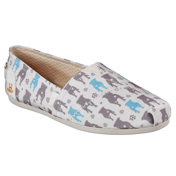 Skechers 34394 NAT Women's BOBS PLUSH-GENTLE GIANTS Flat