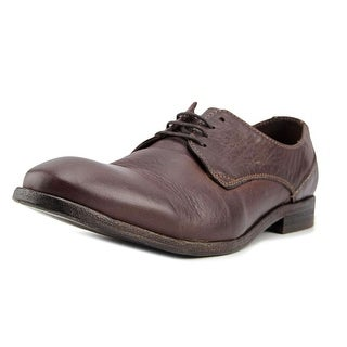 Hudson London Dylan Men  Plain Toe Leather Brown Oxford